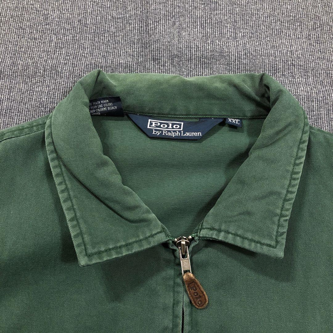 Ralph Lauren 古著綠色哈靈頓外套(L)