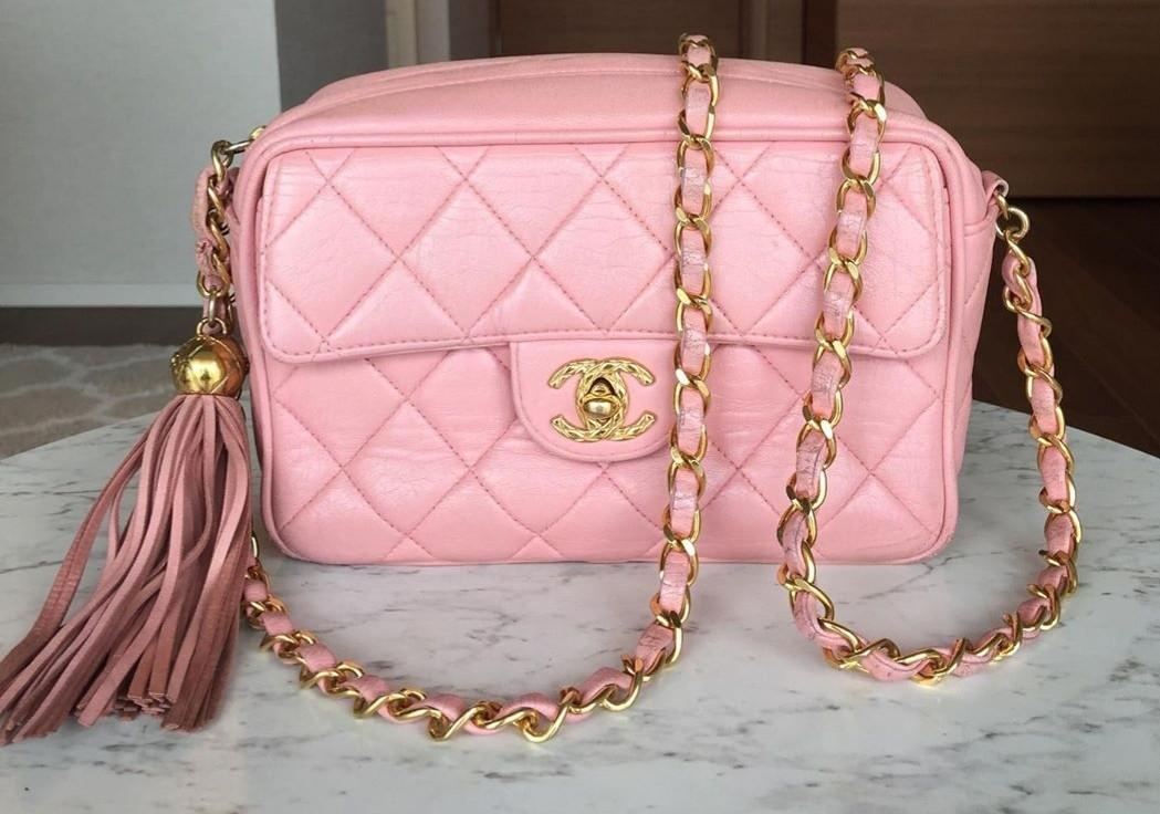 RARE Authentic chanel pink camera bag