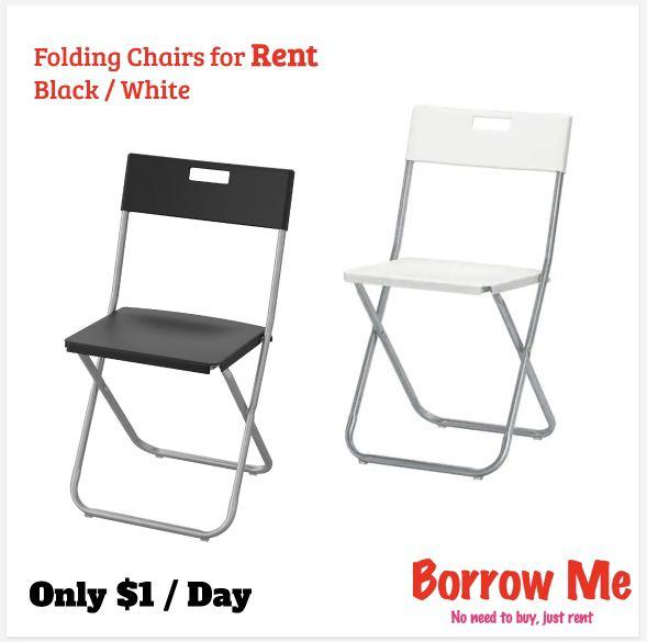 [RENT] Foldable Chairs