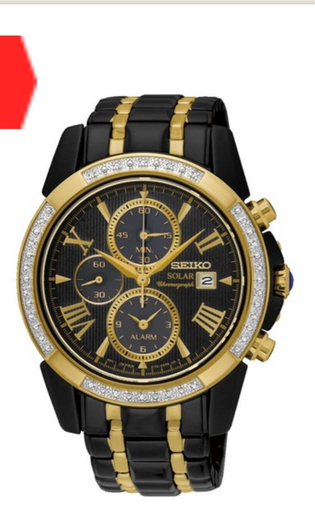 Sale!!! Seiko Men's Black & Gold Tone Le Grand Sport  From $1150 to $789