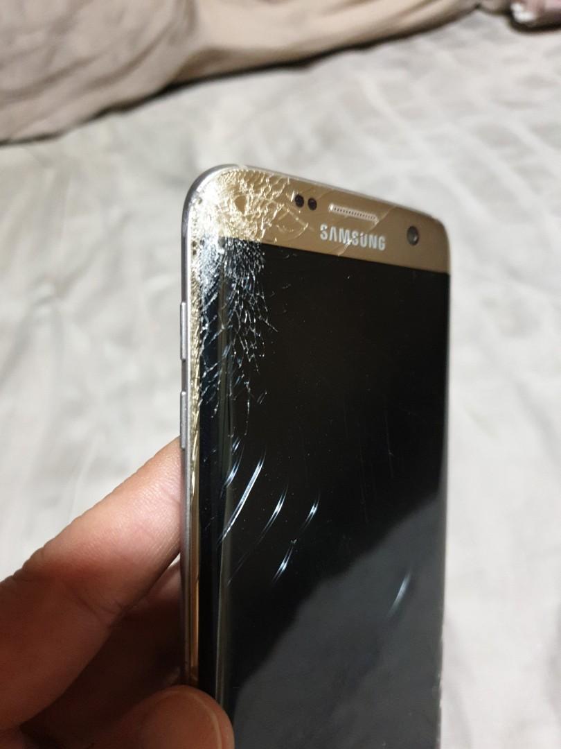 Samsung S7 edge damaged screen