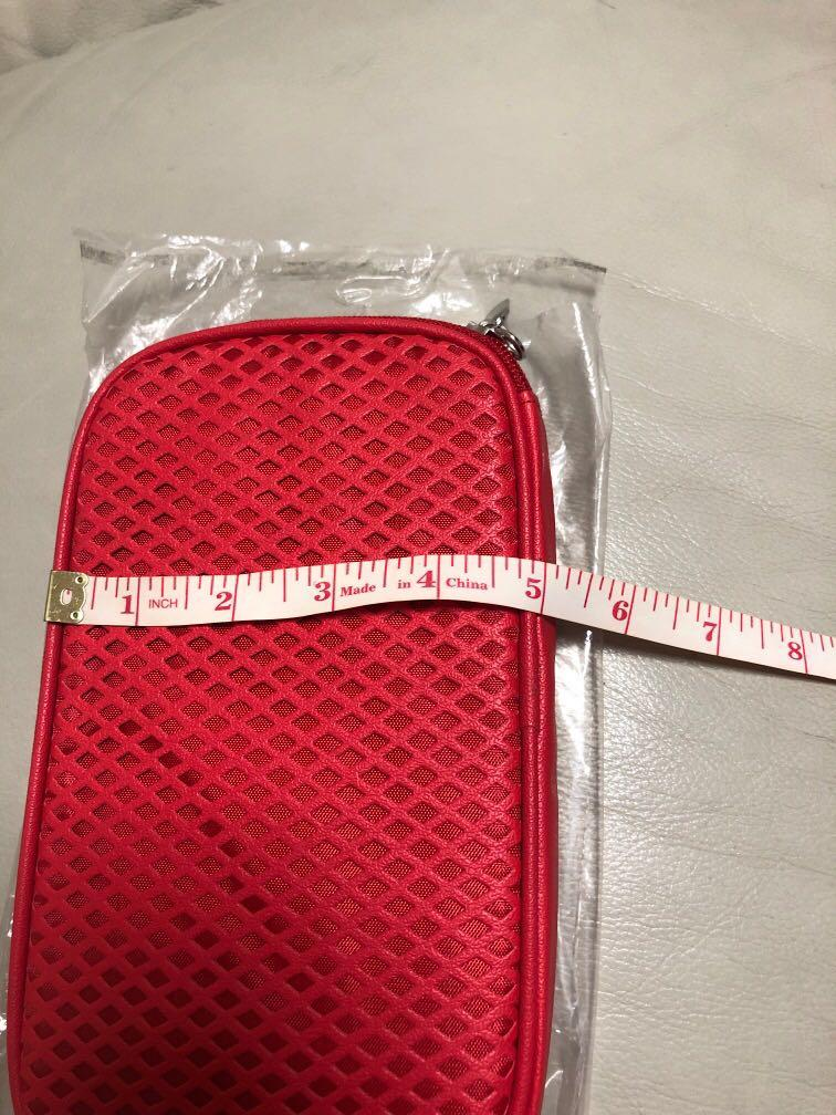 ShiSeido化妝袋紅色