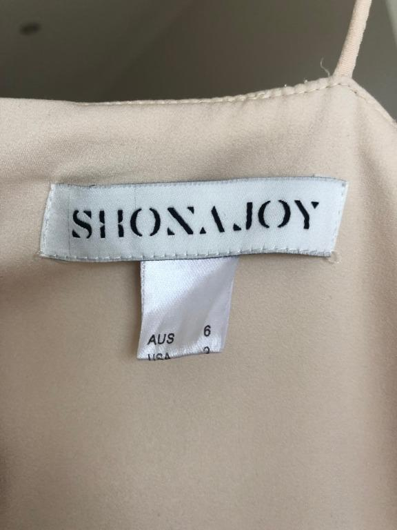 SHONA JOY Cocktail Draped Dress in Nude (size 6) - WORN ONCE