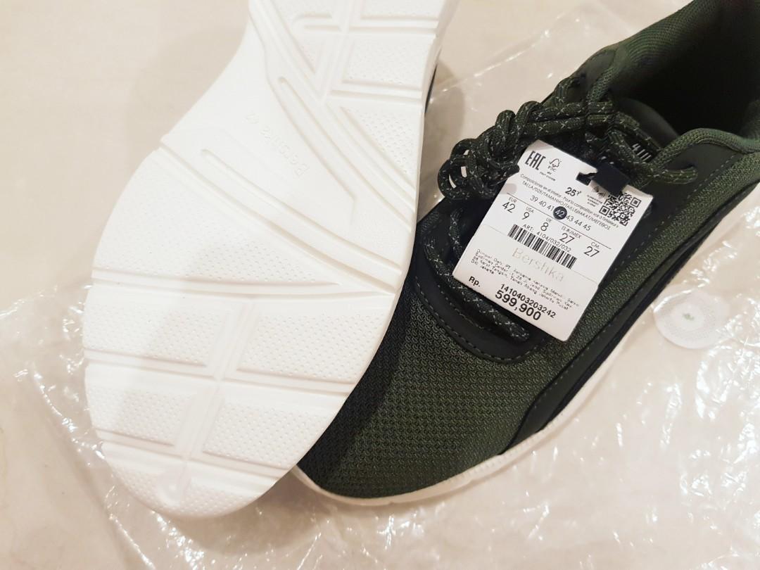 Sneakers BERSHKA army green