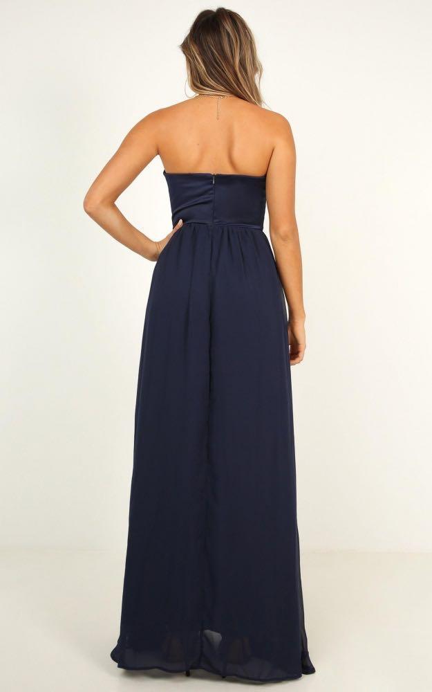 strapless navy maxi formal dress (love bound maxi dress in navy)