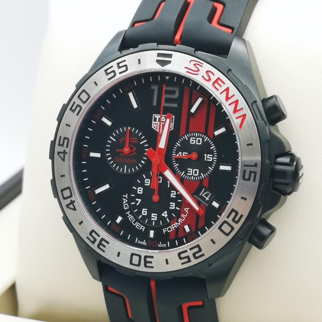 TAG HEUER Formula 1 Black Opalin Dial Men's Chronograph Watch CAZ1019.FT8027