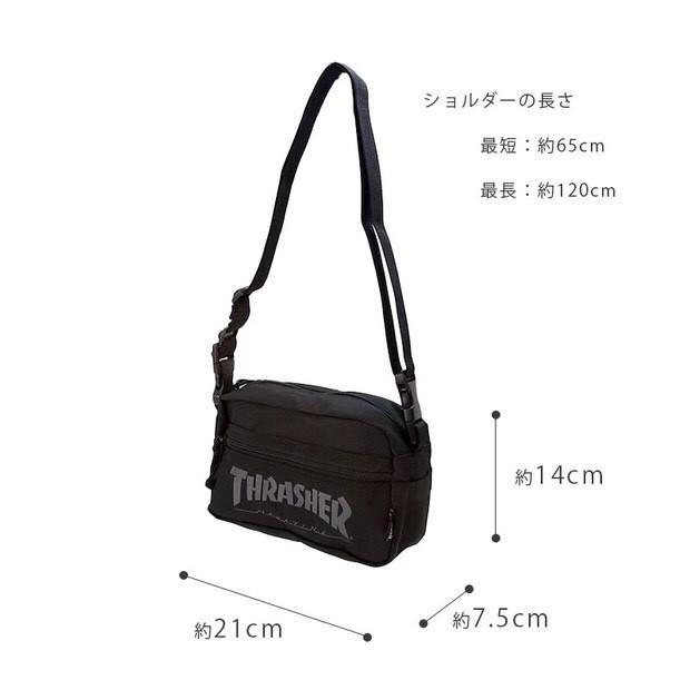 THRASHER 2WAY Shoulder Bag / Messenger Bag / Messenger Bag /Canvas shoulder bag