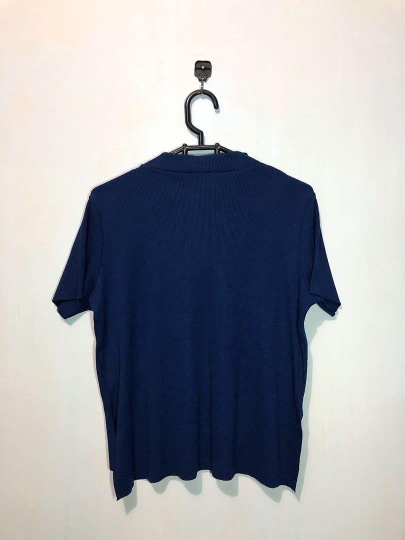 Turtle Neck Colorbox Navy #1111special