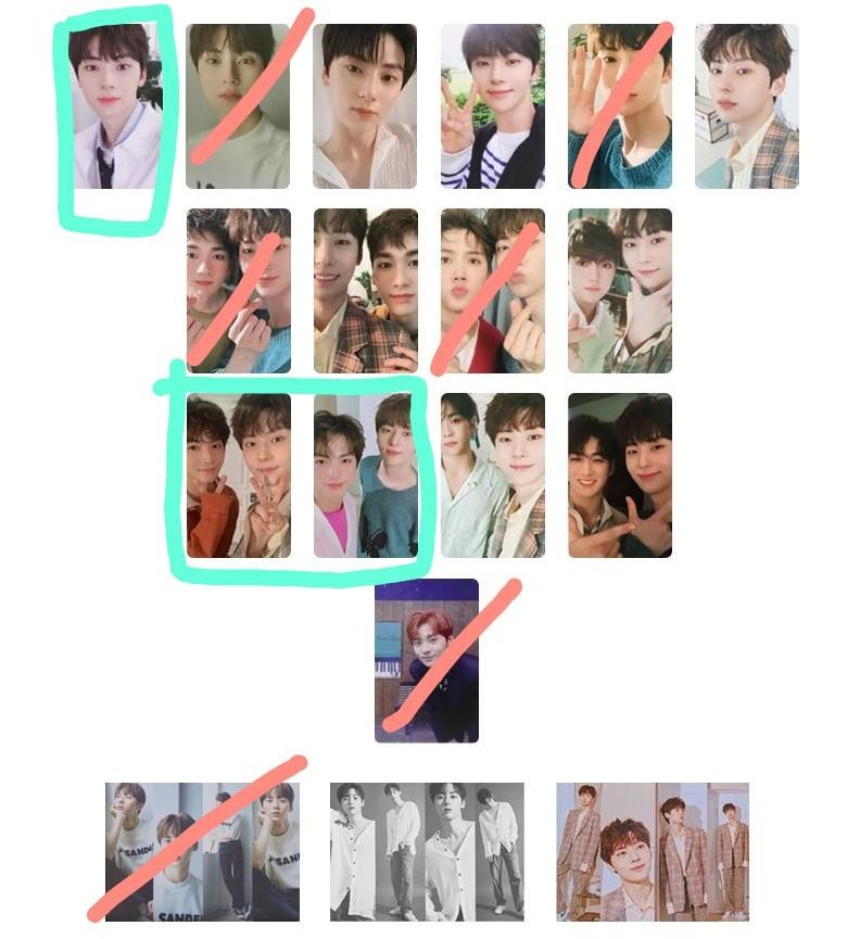 WTT NU'EST The Table folding card, pcs and posters