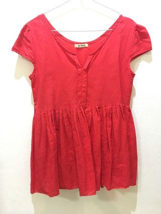 Baju atasan merah/Red Top