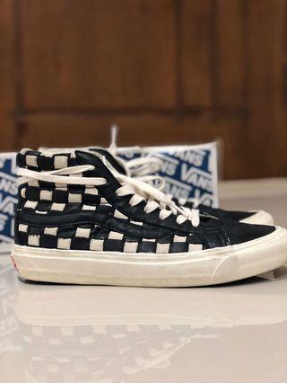Vans  OG sk8-hi Lx Woven Checkerboard Lthr 50th Original