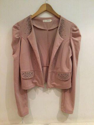 凱特小姐出清🌸藕色軟布料西裝外套 #剁手時尚