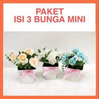 Pot bunga mini tanaman hias palsu artificial