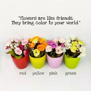 Pot bunga rose tanaman hias palsu artificial