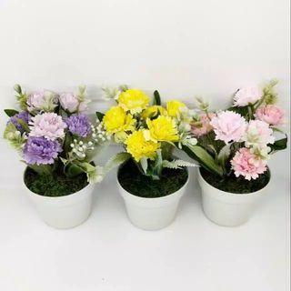 Pot bunga anyelir tanaman hias palsu artificial