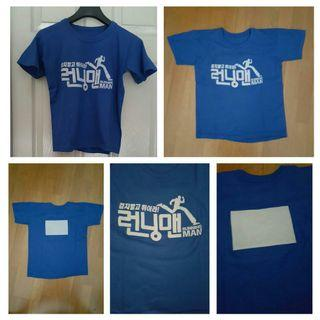 Kids T-shirt (Running Man) with velcro for nametag