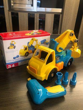 [二手]美國 B.Toys工程吊車 Battat 系列