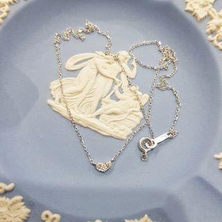 日本輕珠寶~4°C K10白K金愛心鑽石項鍊 套鍊 4度C 10K