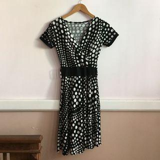 Polkadot Spandek Dress