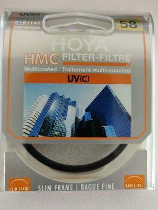 Original Hoya 58mm Digital Multicoated HMC UV(C) Filter Local Original seal unit