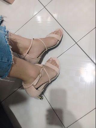 粉色 中跟鞋 高跟鞋  24.5cm 25可穿