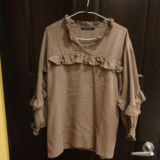 Mercci 22 荷葉邊襯衫