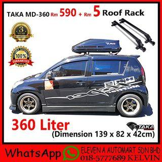 Taka Md-360 Glossy Roofbox With Roof Rack