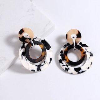 #1111special NEW Vintage Tortoiseshell Circle Earrings Fashion Leopard Acrylic Dangle