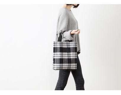 【現貨】英倫風 格子 梨花 MUSE 日雜附錄 手提包 灰黑 格紋 時尚 購物包 日本雜誌附錄 手提袋