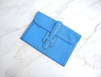 Hermes Jige 天藍色 手拿包