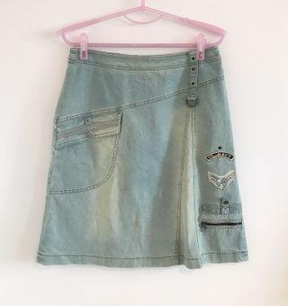 專櫃品牌 eino 復古造型牛仔短裙