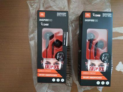 New Ori JBL Inspire 100 Garansi Resmi IMS Earphone Headset Earbud
