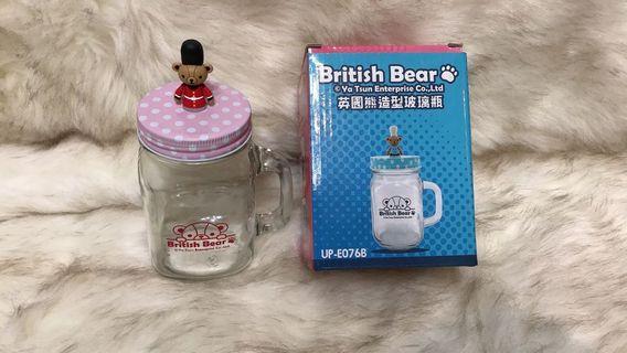 英國熊玻璃馬克杯