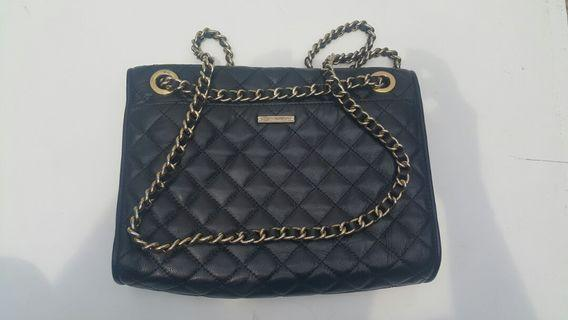 New  REBECCANMIKOFF leather  beg