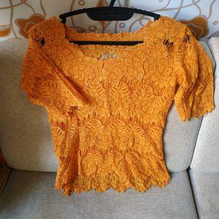 Kebaya Brokat Orange