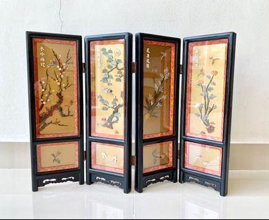 Antique Chinese frames with carvings