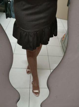 💯 NEW Isetan Cultivation Dark Brown Ruffles Skirt