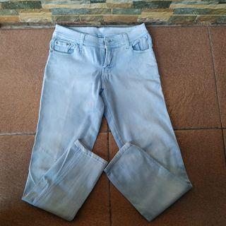 Light Blue Washed Jeans / /Celana Jeans