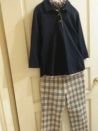 BURB.S 經典格紋褲裝一套