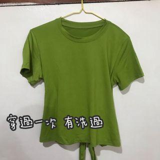 綠色短版上衣