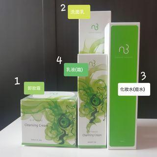 自然美 實體門市購入 卸妝洗顏保養組 化妝水 乳液