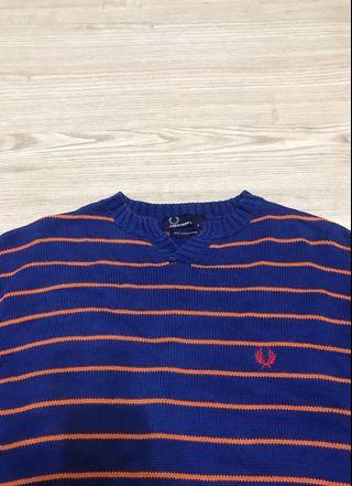 Fred perry 條紋毛衣