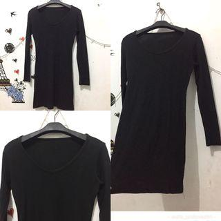 Tunik hitam stretch import