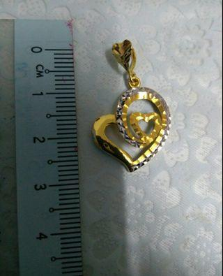 Love shape pendant 916 gold