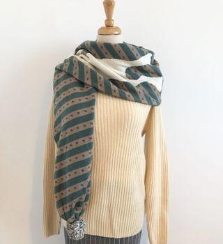 專櫃品牌 gozo 親膚針織毛球兔子圍巾