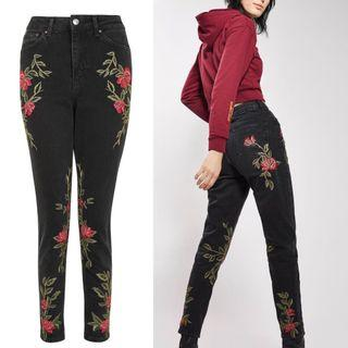 NWT Floral Topshop jeans