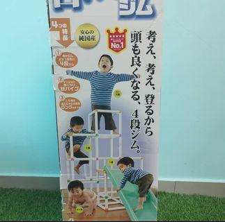 People slide and climber gym and playground set (No.1  in Japan).