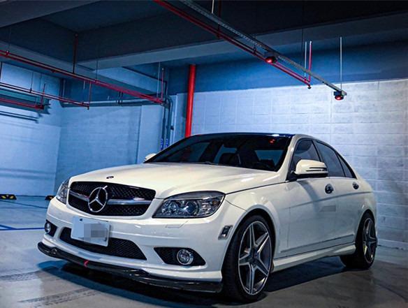 2008 Benz C300 白 全景 改