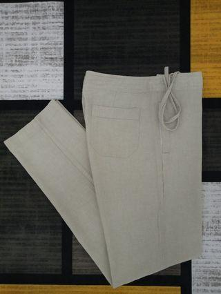UNIQLO RELAXED COTTON LINEN PANTS SELUAR