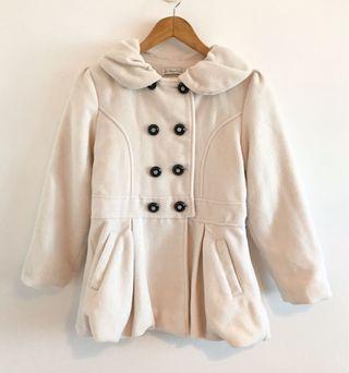 法國專櫃品牌 Le Premier 送子鳥厚毛呢花苞大衣